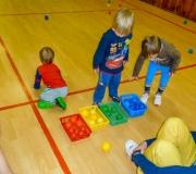 Cvičení nejmenších dětí v TJ Zdemyslice