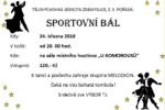 Pozvánka na Sportovní bál 24.3.2018