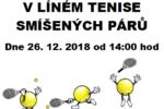 Vánoční turnaj v líném tenise 26.12.2018 od 14:00 hodin