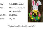 Pozvánka na dubnové vyrábění pro děti