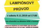 Pozvánka na Lampiónový průvod 9.11.2019 od 17:00 hodin